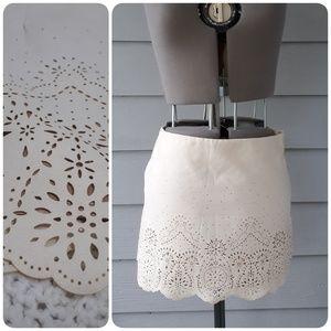 Forever 21 Cream Mini Skirt